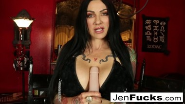 Sexy tattoed Milf gives you a Jerk Off Instructional