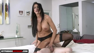 hot milf Reagan Foxx gets fucked by young cock