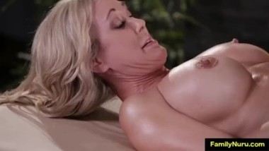 Blonde stepmom and daughter family sex massage