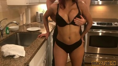 Hot Latina Young Housewife Sucks Dick In Kitchen